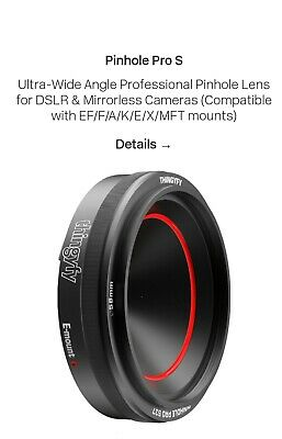 Thingufy Ultra Wide Angle Professional Pinhole Pro S Lens DSLR & Mirrorless Came