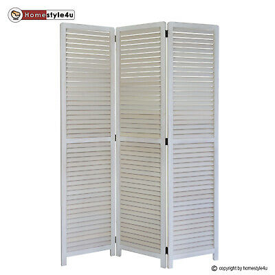 3 part Paravent screen wood room divider 3 panel partition screens furniture