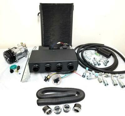 Universal Underdash Air Conditioning Heat Cool AC Evaporator Kit + Hoses & Vents