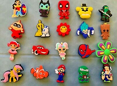45 x DIFFERENT CARTOON DESIGNS of Jibbitz Shoe Charm made for Crocs & Bracelets