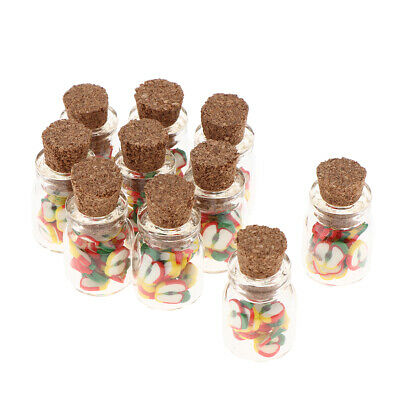 10pcs 1/12 Dollhouse Miniature Jars Food Model for Kitchen Decoration- Apple