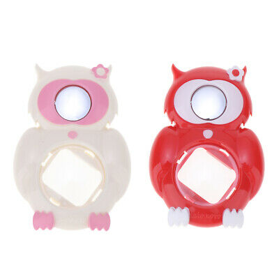 2pcs Owl Close Up Lens Selfie Mirror for Fuji Instax Mini 8/8+/9, White+Red