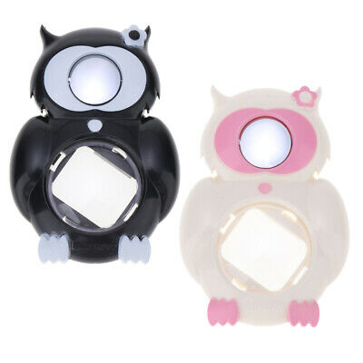 2pcs Owl Close Up Lens Selfie Mirror for Fuji Instax Mini 8/8+/9 White+Black