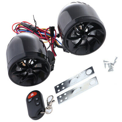 Motorcycle Handlebar Audio Stereo Speaker MP3/USB/TF Player with Light