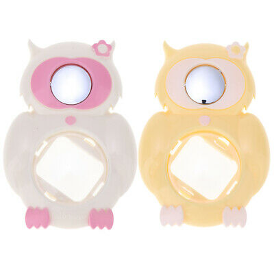 2pcs Owl Close Up Lens Selfie Mirror for Fuji Instax Mini 8/8+, White+Yellow