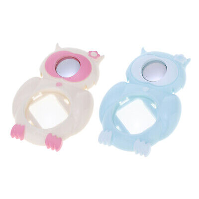 2pcs Owl Close Up Lens Selfie Mirror for Fuji Instax Mini 8/8+/9, White+Blue