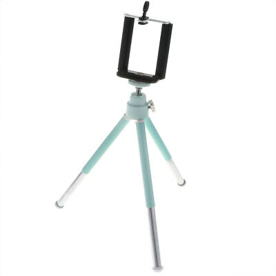 Portable Tripod Holder Stand 360° Rotation Adjustable+Clamp for Phones Blue