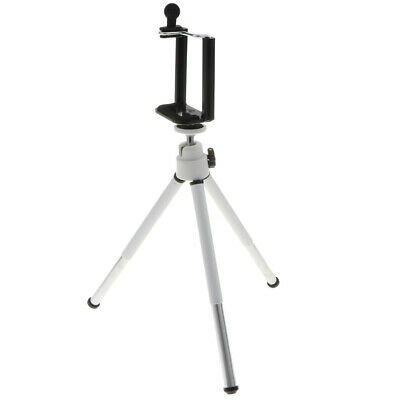 Portable Tripod Holder Stand 360° Rotation Adjustable&Clamp for Phone White