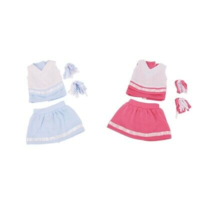 18 inch Doll Two-pieces Cheerleading Outfit Dress Up & Beauty Accessories