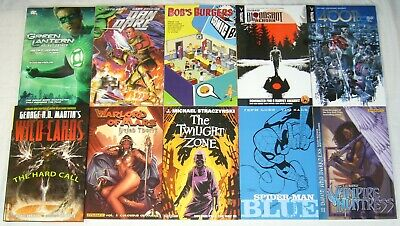 Wholesale lot of (10) TPBs - marvel/dc/more  spider-man blue - (value: $172.90)1
