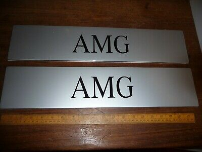 Pair of Mercedes AMG Showroom number plate covers / Mercedes AMG Show plates
