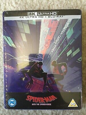 SPIDER-MAN INTO THE SPIDER-VERSE 4K UHD + Blu-Ray Zavvi UK Exclusive STEELBOOK