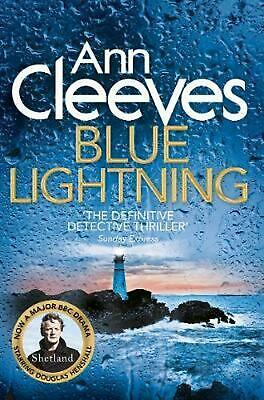 Blue Lightning by Ann Cleeves Paperback Book Free Shipping!