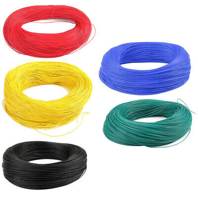 5x 20AWG Equipment Automotive Stranded Wire Cable Hook-up Testing Strip Line
