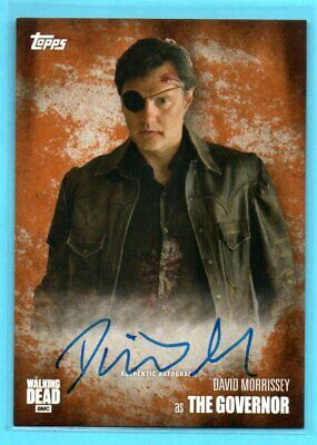 2016 Topps THE WALKING DEAD David Morrissey as The Governor #/99 ON-CARD AUTO