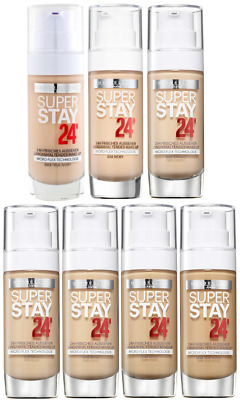 *MAYBELLINE Super Stay 24HR FRESH LOOK FOUNDATION WOMAN'S NEW - 9 SHADES*