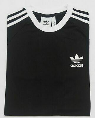 Adidas Originals Mens Trefoil California Tees Crew Neck T Shirt Black S M L XXL
