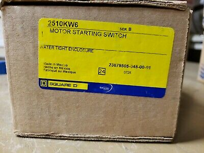 Square D 2510KW6 Water Tight Enclosure Motor Starting Switch 1Z-1648-G32