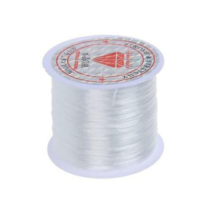 0.5mm Shock Stretchy Elastic Crystal String Cord Thread Jewelry Making White GL