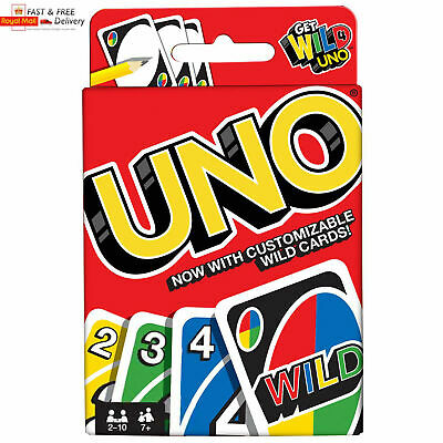 GENUINE UNO CARD GAME With WILD CARDS Matte Latest Version Family Fun UK SELLER