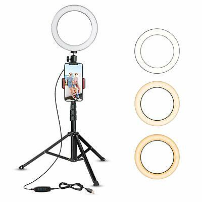"UBeesize 8"" Selfie Ring Light with Tripod Stand & Cell Phone Holder"