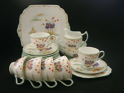 DUCHESS Vintage ART DECO English China Hand Painted TEA SET High Tea for 6