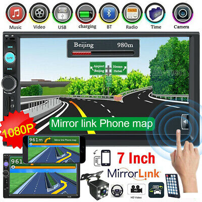"7"" 2Din 1080P Car MP5 Player Touch Screen Remote Control Android/IOS Mirror Link"