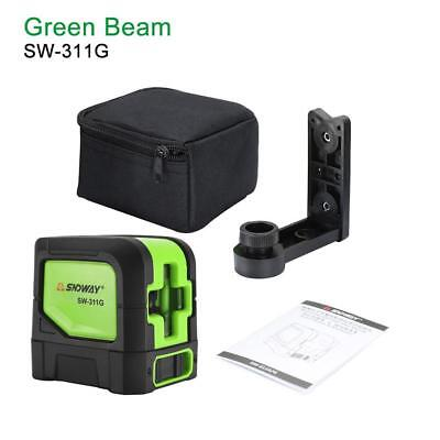 360° Rotary Laser Level 2 Line Green Self-Levelling Vertical Horizontal Measure