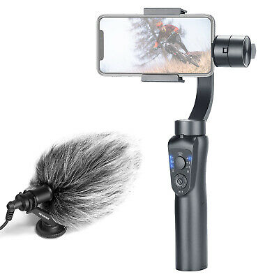 CM14 Video Microphone Mic and Gimbal 3-Axis Handheld Stabilizer