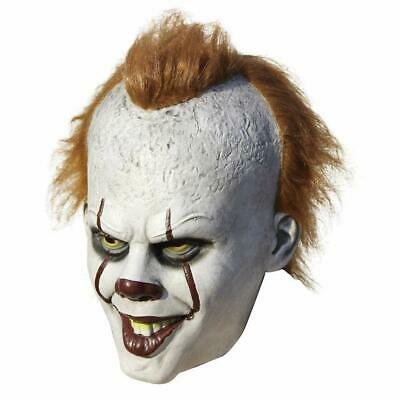 Stephen King's It Mask Movie Pennywise Clown Mask Halloween Cosplay Costume- New