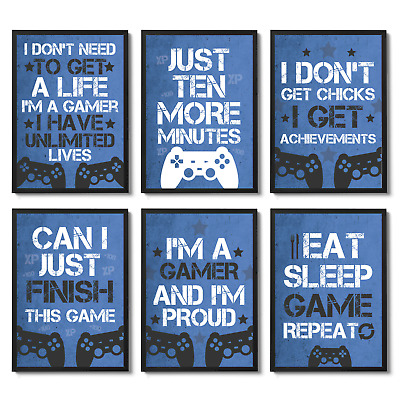 Playstation Inspired Gaming Prints Gaming Bedroom Decor Games Room Wall Art Boys