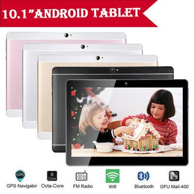 10.1'' inch Tablet PC 4+64GB Android 7.0 Octa-Core Dual SIM &Camera Wifi Phablet
