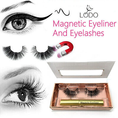 Magnetic Liquid Eyeliner With Waterproof Three-Magnetic 1 Pair False Eyelashes