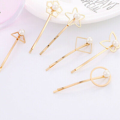 1Pc Alloy Pearl Hair Clips For Girl Party Headwear Pins Beauty Tools Access