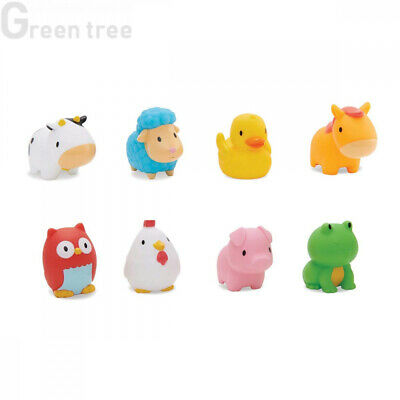 Munchkin Floating Farm Animal Themed Rubber Bath Squirt Toys for Baby, Pack...