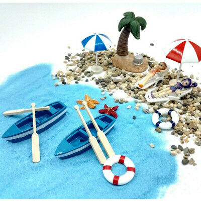 1/12 Dollhouse Miniature Beach Set Accessories Kids Pretend Play Toys Gifts