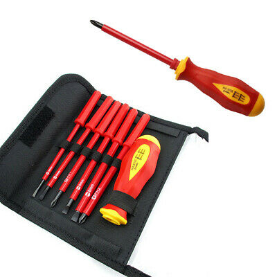 7PCS Insulated 1000 V Interchangeable SL PH Electricians Screwdriver Set Fully
