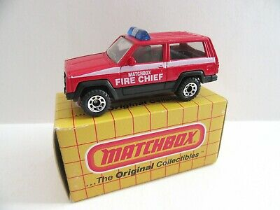 Matchbox Superfast Jeep Cherokee - FIRE CHIEF - Mint/Boxed
