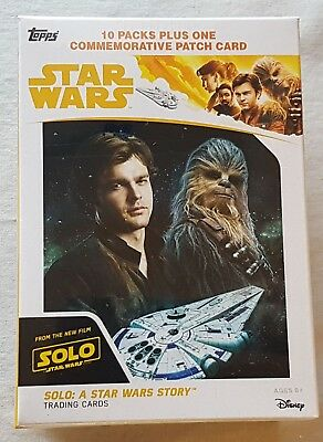 Solo a Star Wars Story Blaster Box ( Topps 2018) One Patch Card per Box