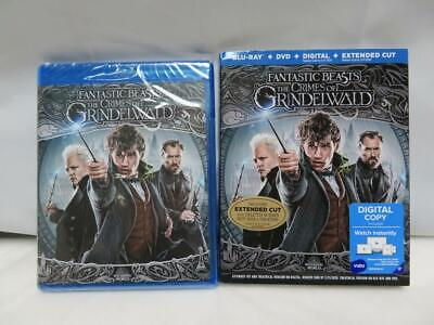 Fantastic Beasts The Crimes of Grindelwald DVD Digital Blu Ray W/ Slipcover