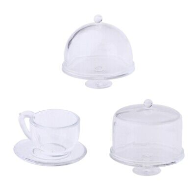 3 Sets 1:12 Doll House Miniature Kitchen Furniture Tableware Accessories