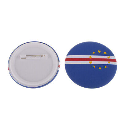 2x Country Flag Metal Pin Tie Lapel Badge Badges Decal Women Men Gift C