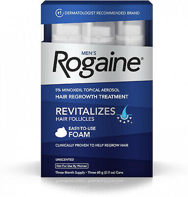 Mens Rogaine- 5% Minoxidil Foam For Healthy Hair Regrowth, 3-month Supply