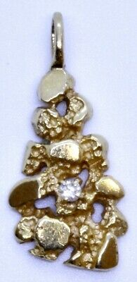 ae77c49adc662 14K YELLOW GOLD Nugget Design Fashion Charm Pendant 13 grams 44 MM x ...