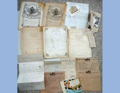 1800s LOT antique BALDWIN/THOMSON FAMILY PAPERS manayunk pa