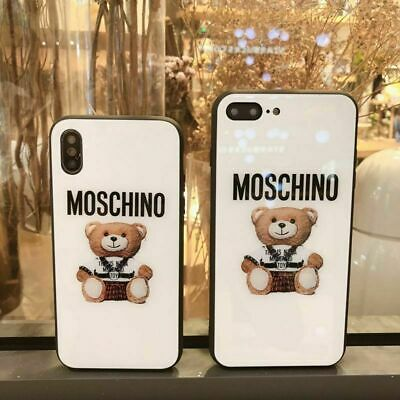 Moschino Bear Glossy Phone Case Cover iphone 6 7 8 Plus X XS MAX Apple Case UK