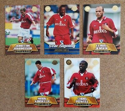 Merlin Gold 2002 (Topps) Football Cards Team Sets - Various Teams / Players