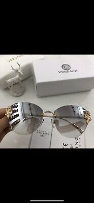 cd1f5b903f341 Original Versace Sunglasses Cat Eye VE2196B 142887 Tribute Gold Grey Lens  NIB
