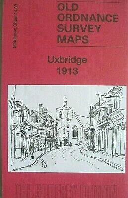 Old Ordnance Survey Maps Uxbridge Middlesex 1913  Godfrey Edition New Offer