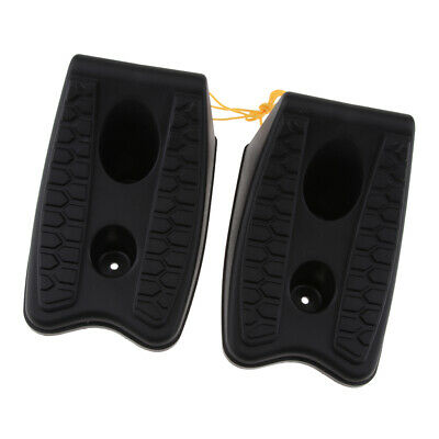 2 x Plastic High-Grip Wheel Chocks for Caravan Motorhome Camper Trailer